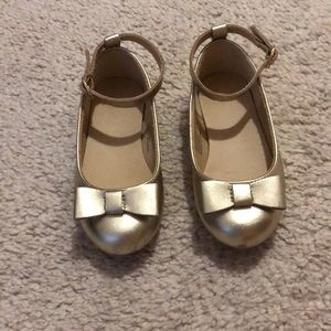 Janie and Jack gold dress shoes